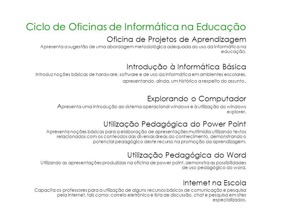 Ciclo de Oficinas de Informática na Educação