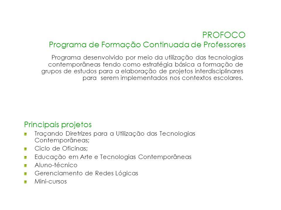 PROFOCO Programa de Formação Continuada de Professores