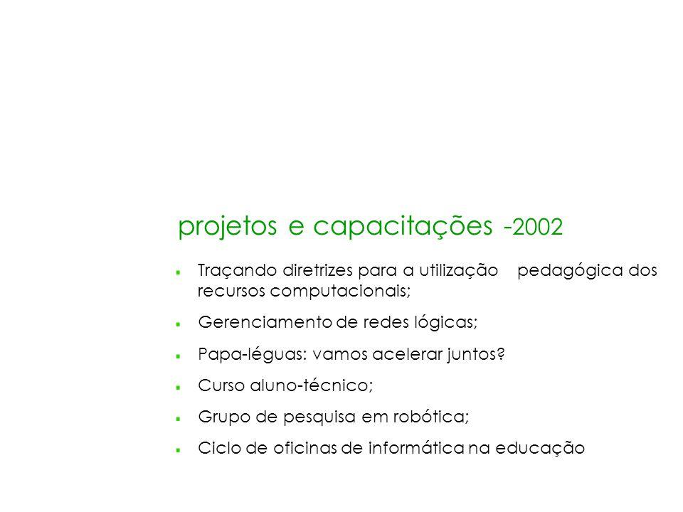 projetos e capacitações -2002