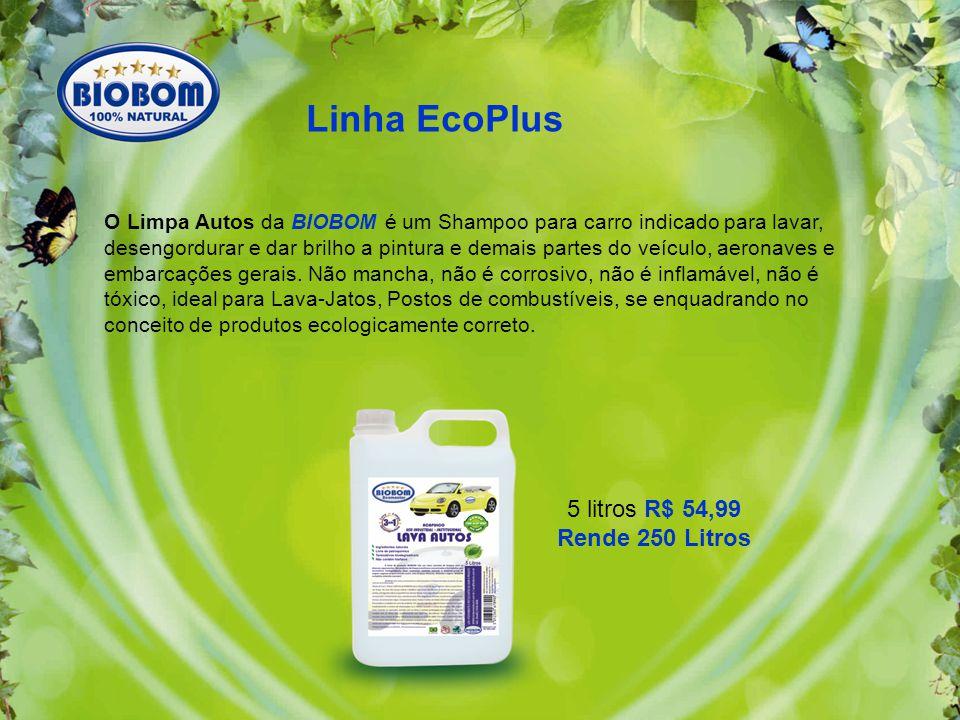 Linha EcoPlus 5 litros R$ 54,99 Rende 250 Litros