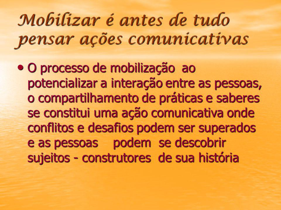 Mobilizar é antes de tudo pensar ações comunicativas