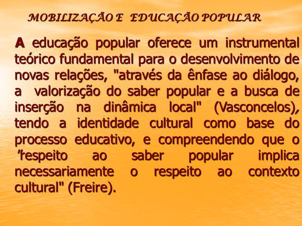 MOBILIZAÇÃO E EDUCAÇÃO POPULAR