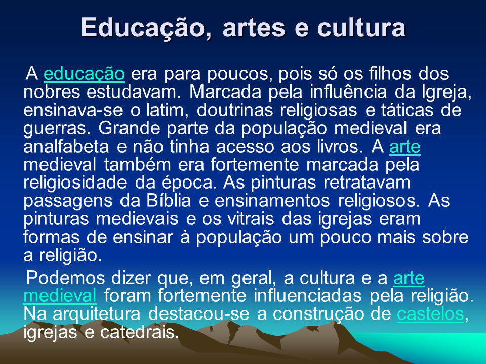 Educação, artes e cultura