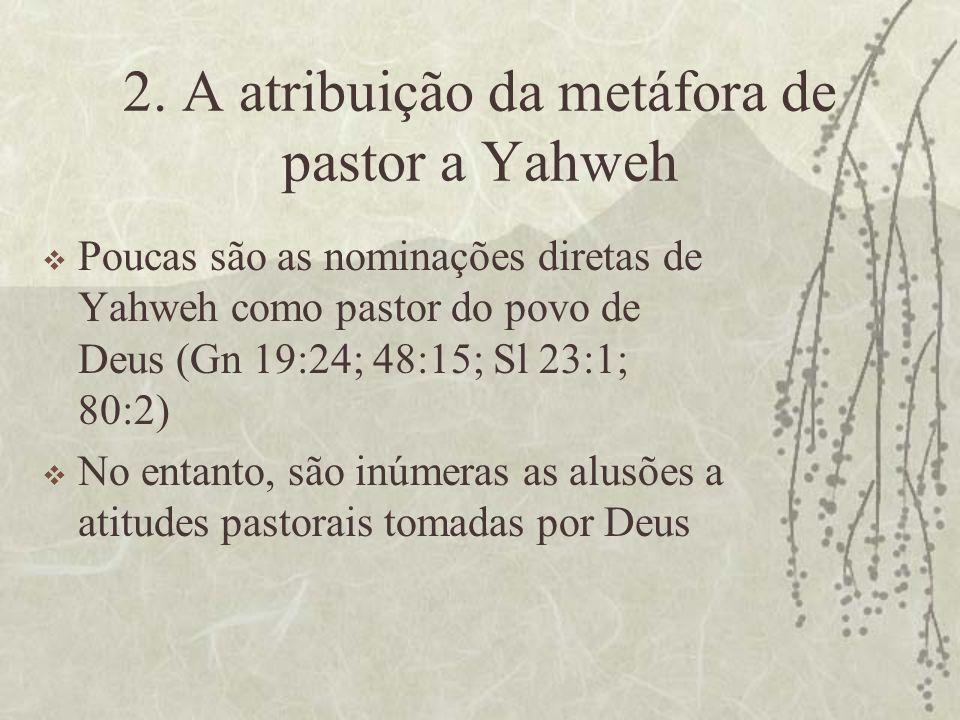 2. A atribuição da metáfora de pastor a Yahweh