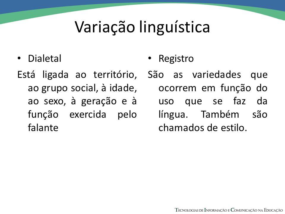 Variação linguística Dialetal