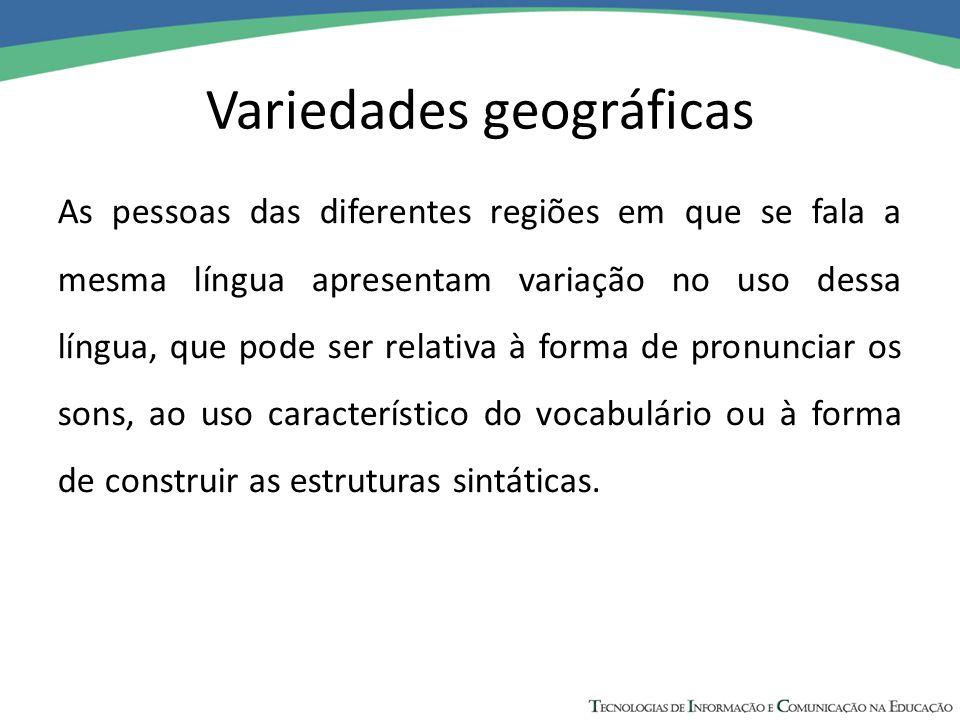 Variedades geográficas