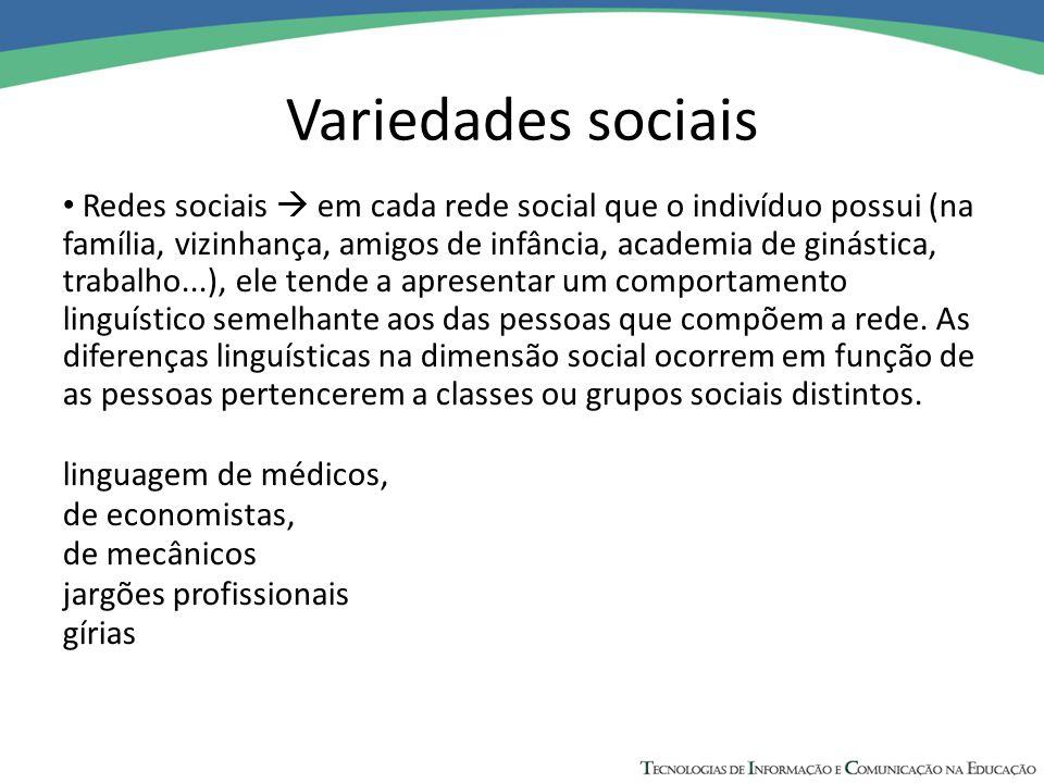 Variedades sociais