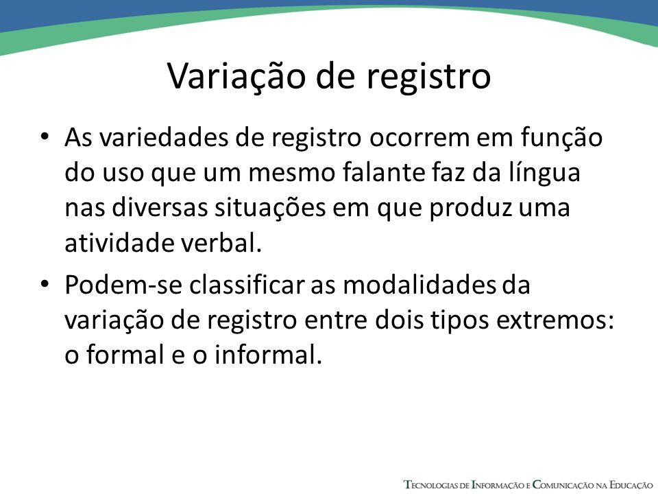 Variação de registro