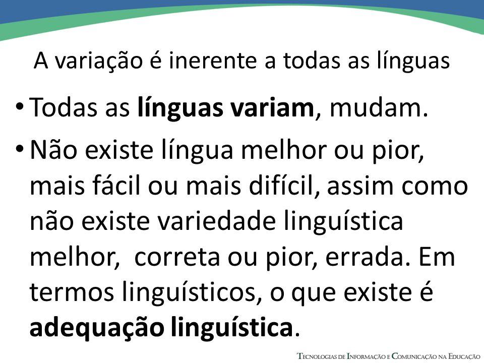 A variação é inerente a todas as línguas