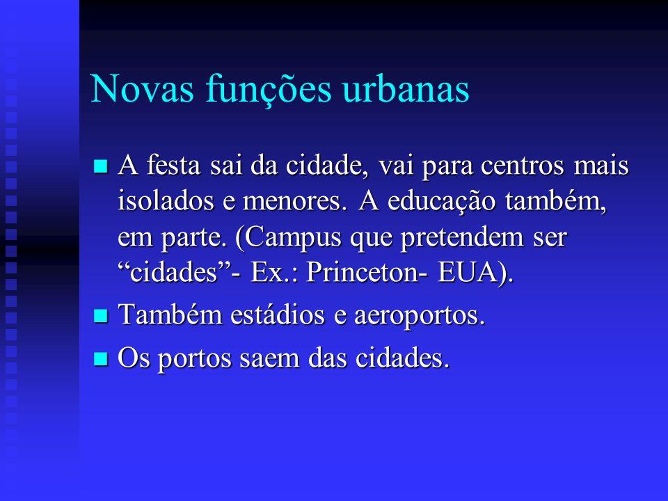 Novas funções urbanas
