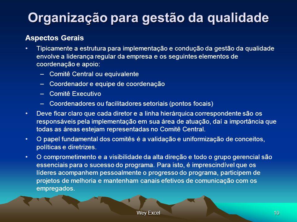 Organização para gestão da qualidade