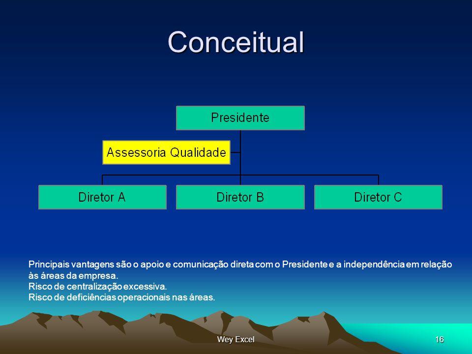 Conceitual Principais vantagens são o apoio e comunicação direta com o Presidente e a independência em relação.