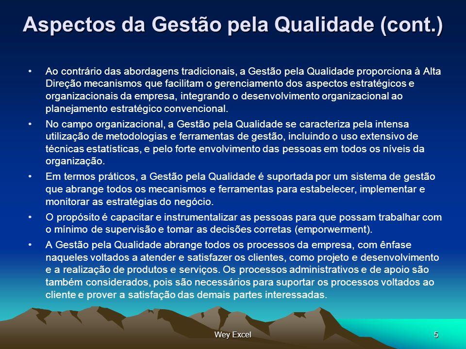 Aspectos da Gestão pela Qualidade (cont.)