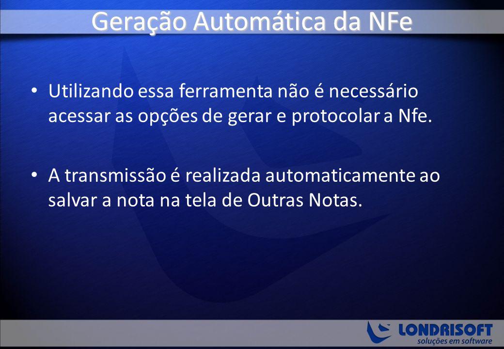 Geração Automática da NFe