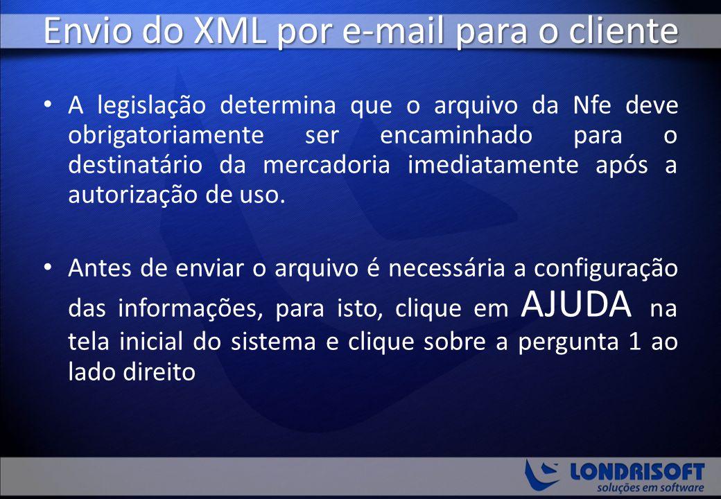 Envio do XML por e-mail para o cliente