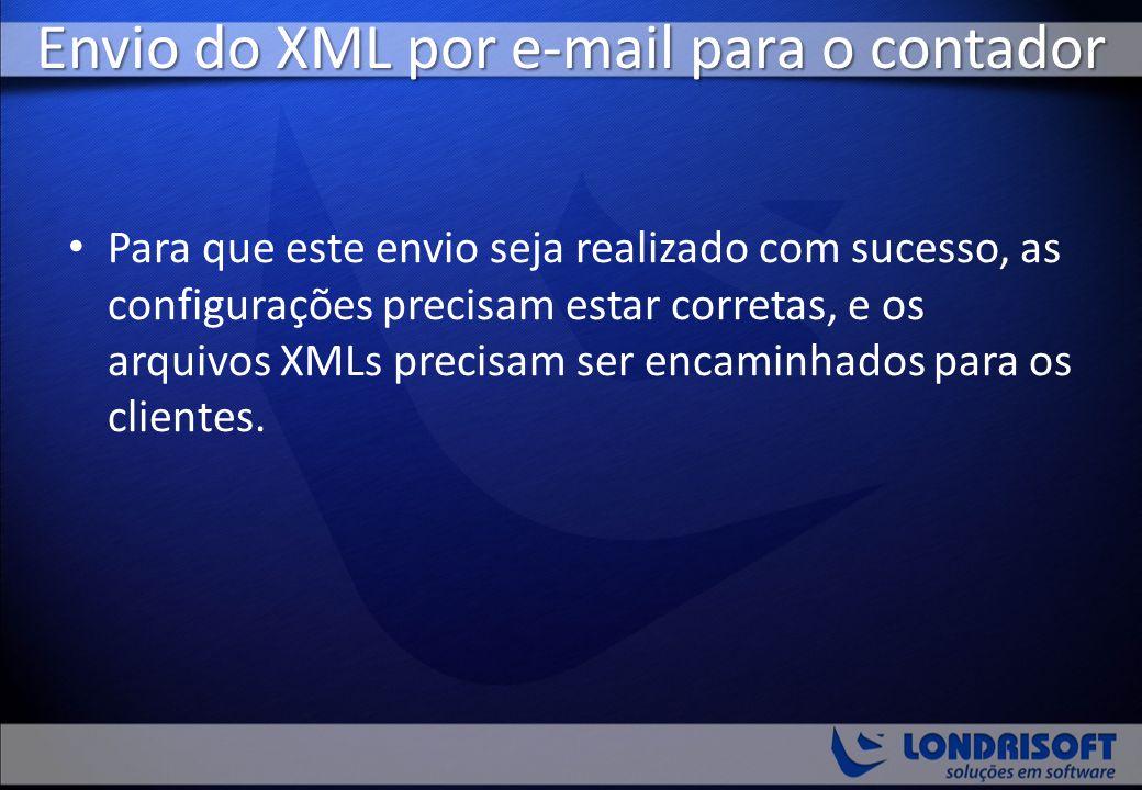Envio do XML por e-mail para o contador