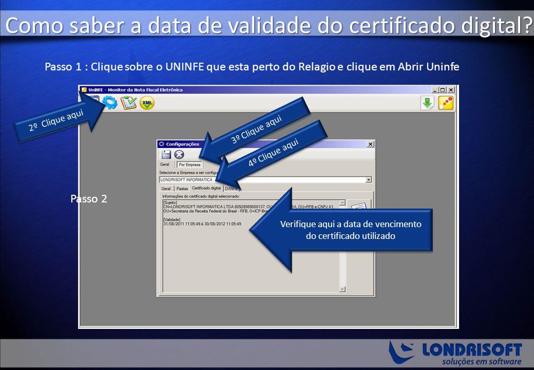 Como saber a data de validade do certificado digital