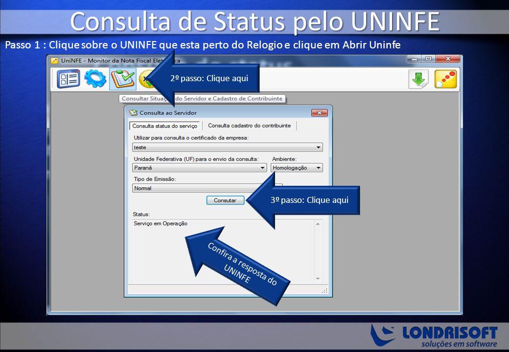 Consulta de Status pelo UNINFE