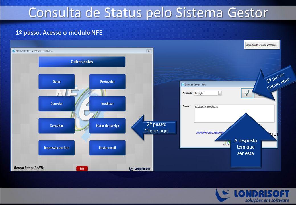 Consulta de Status pelo Sistema Gestor