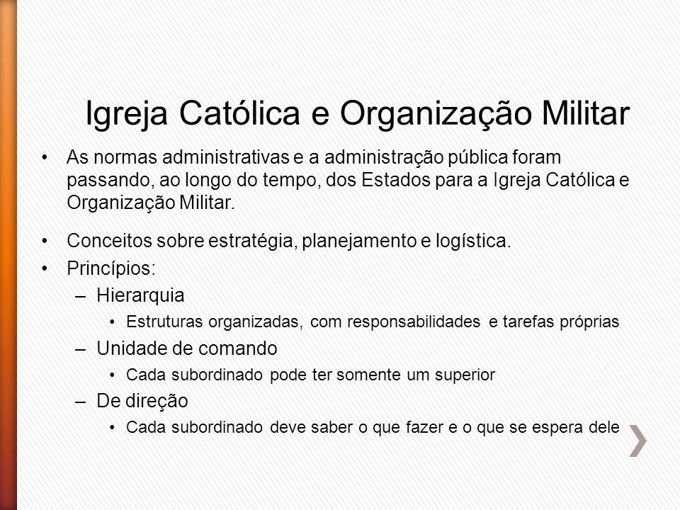 Igreja Católica e Organização Militar