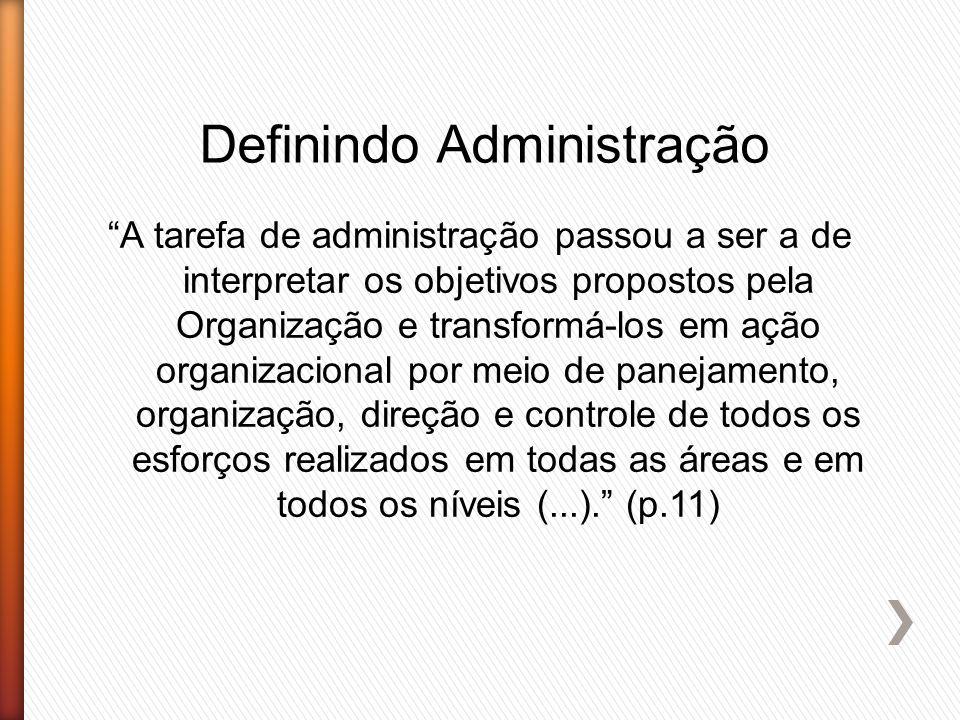 Definindo Administração