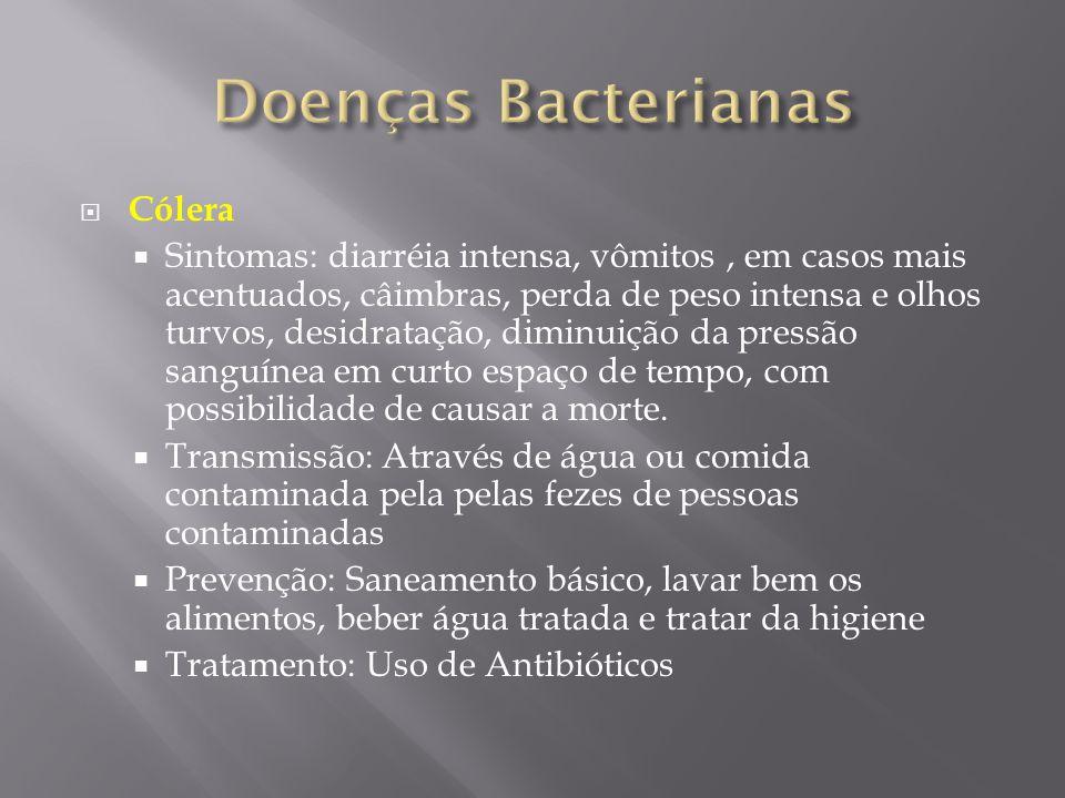 Doenças Bacterianas Cólera