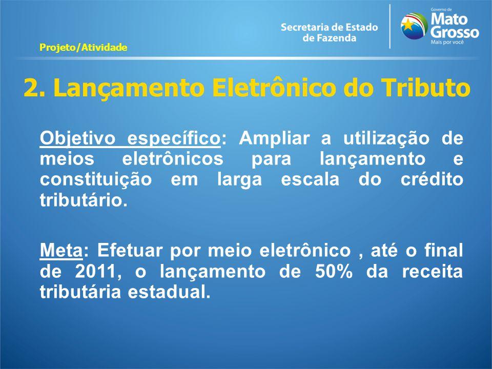 2. Lançamento Eletrônico do Tributo