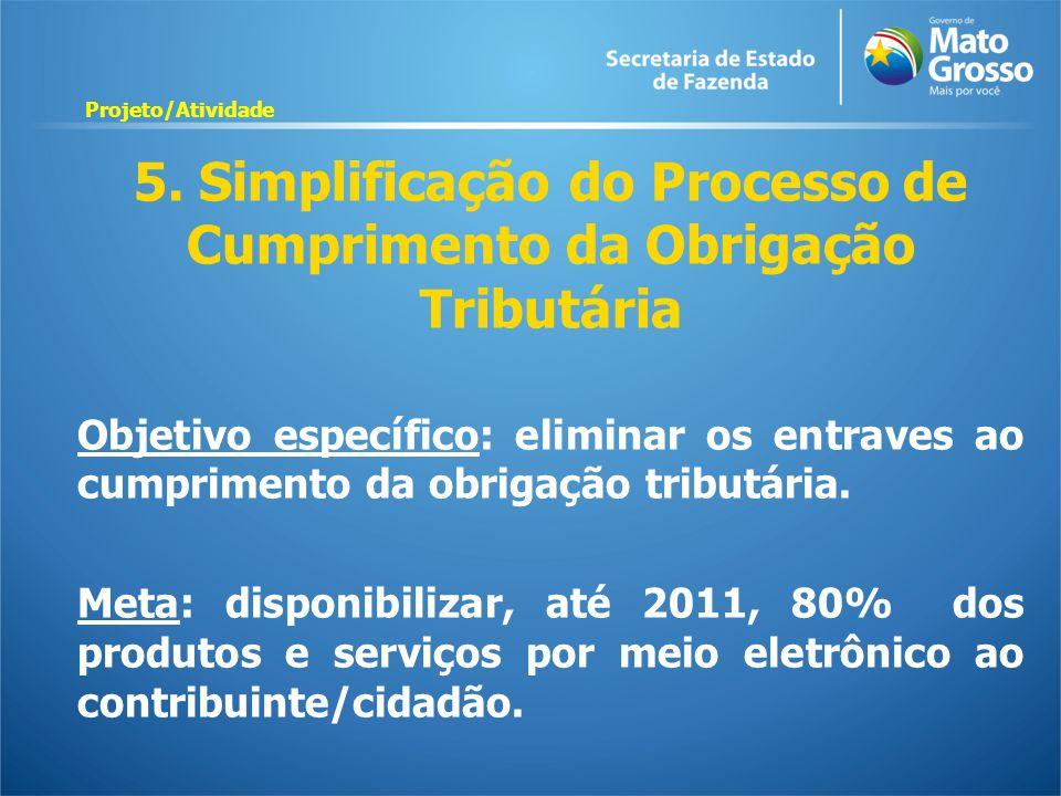 5. Simplificação do Processo de Cumprimento da Obrigação Tributária