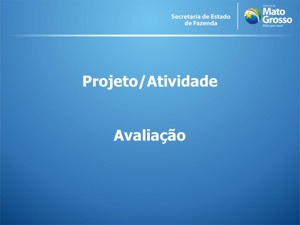 Projeto/Atividade Avaliação