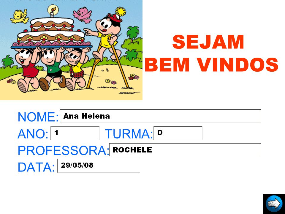 NOME: ANO: TURMA: PROFESSORA: DATA: