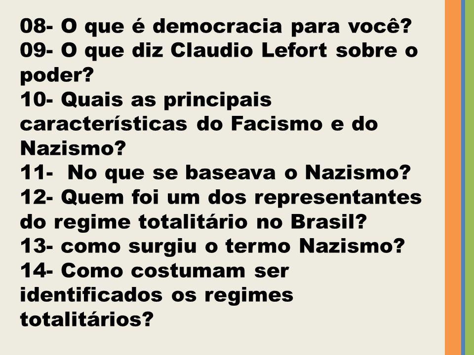 08- O que é democracia para você