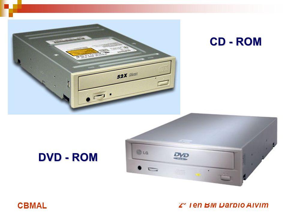 CD - ROM DVD - ROM CBMAL 2º Ten BM Dárbio Alvim
