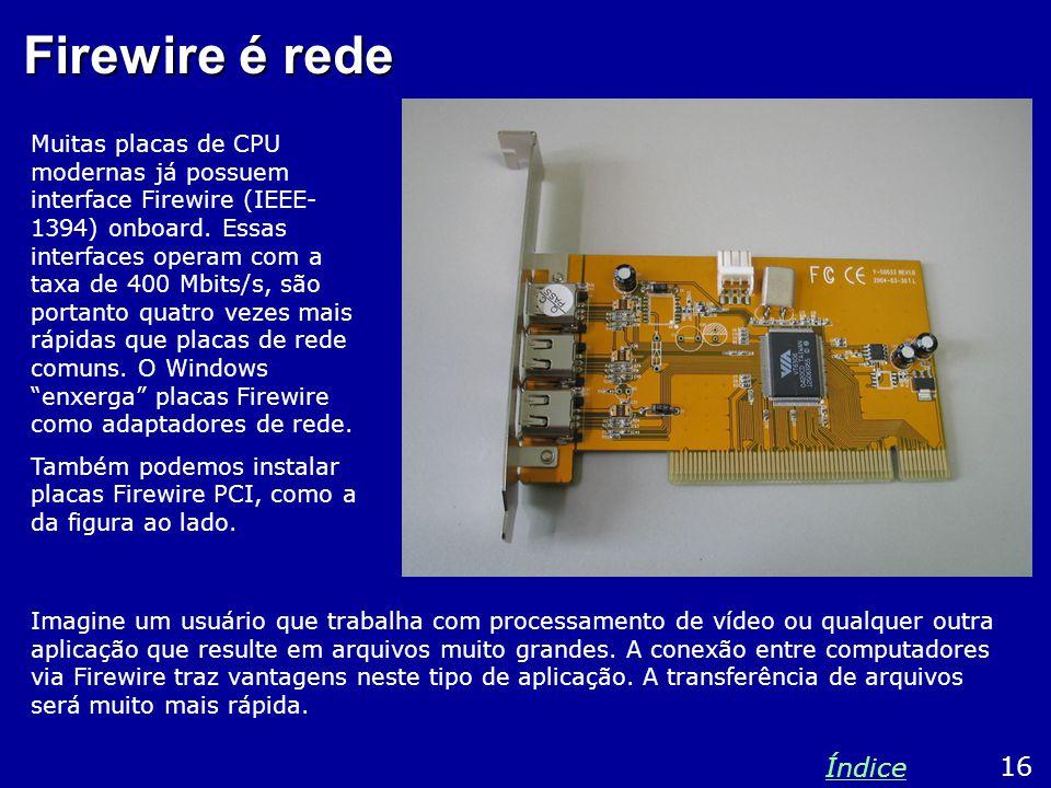 Firewire é rede