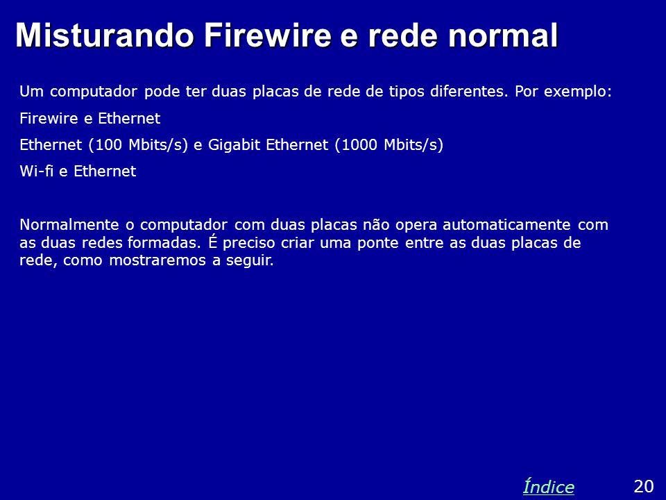 Misturando Firewire e rede normal