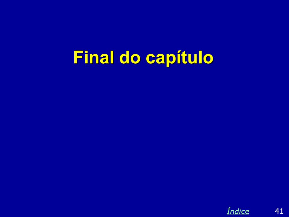 Final do capítulo Índice 41