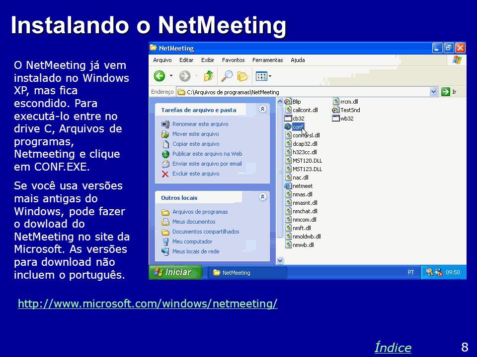 Instalando o NetMeeting