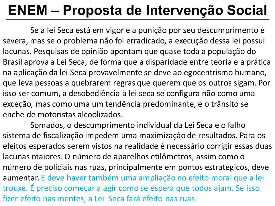 ENEM – Proposta de Intervenção Social