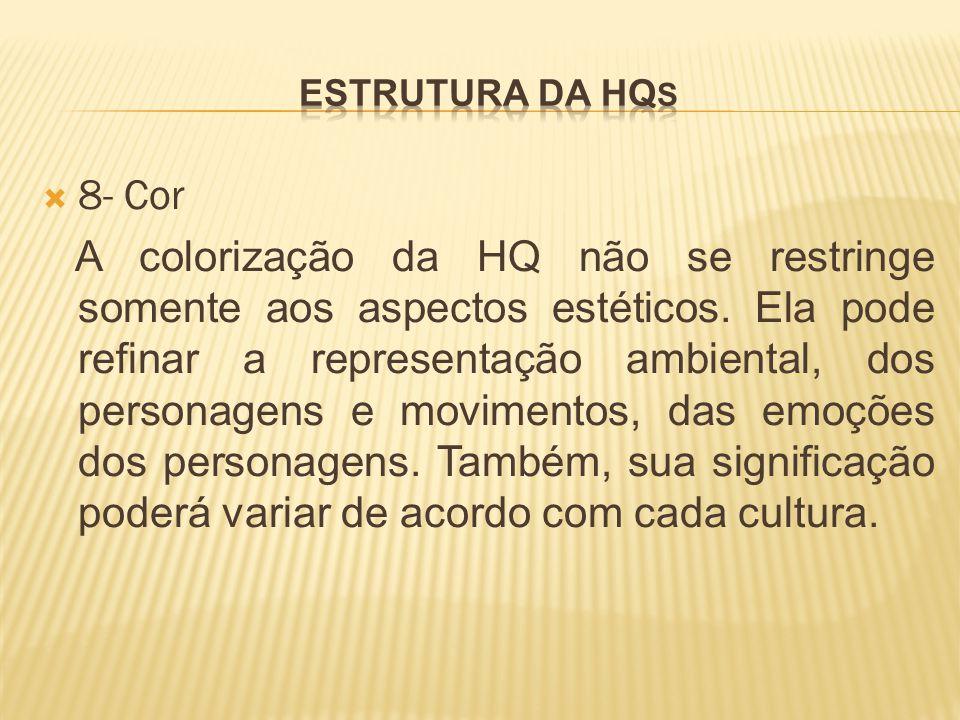 Estrutura da hqs 8- Cor.