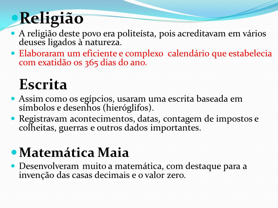 Religião Matemática Maia