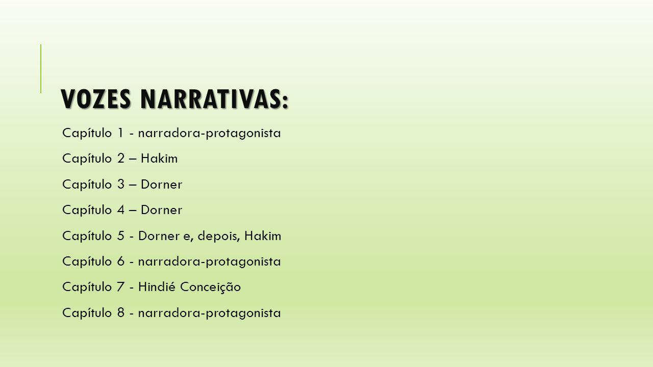 Vozes narrativas: Capítulo 1 - narradora-protagonista