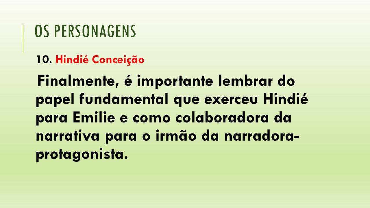 os personagens 10. Hindié Conceição.