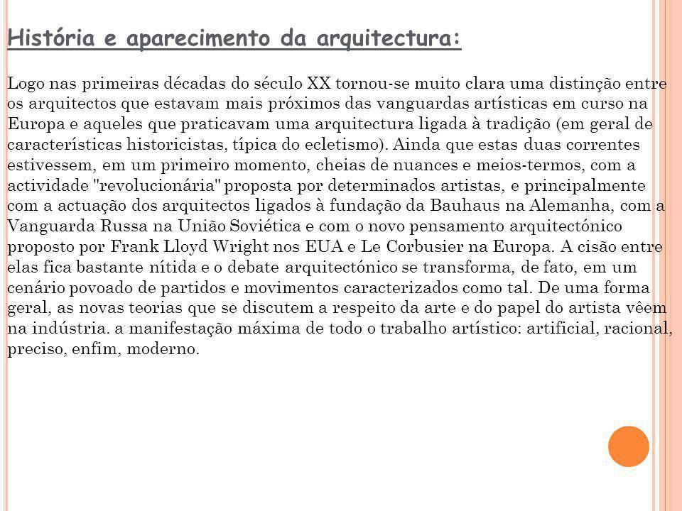 História e aparecimento da arquitectura: