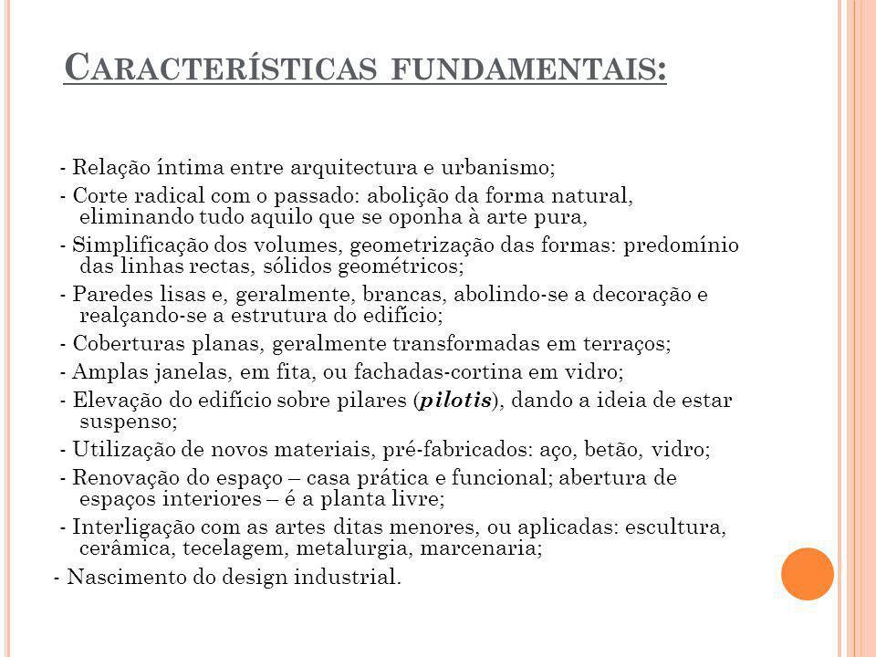 Características fundamentais:
