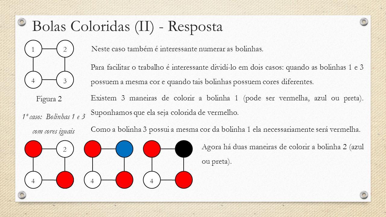 Bolas Coloridas (II) - Resposta