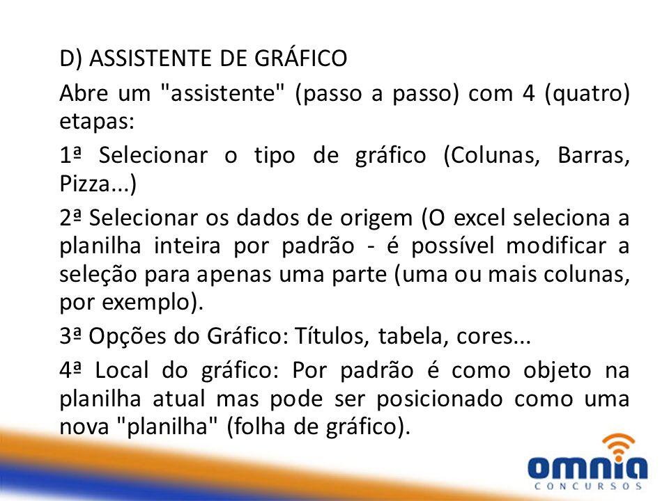 D) ASSISTENTE DE GRÁFICO