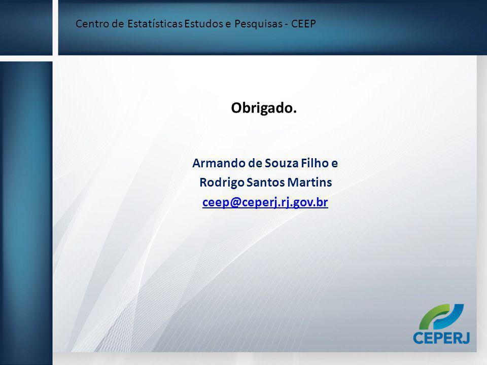 Armando de Souza Filho e Rodrigo Santos Martins ceep@ceperj.rj.gov.br