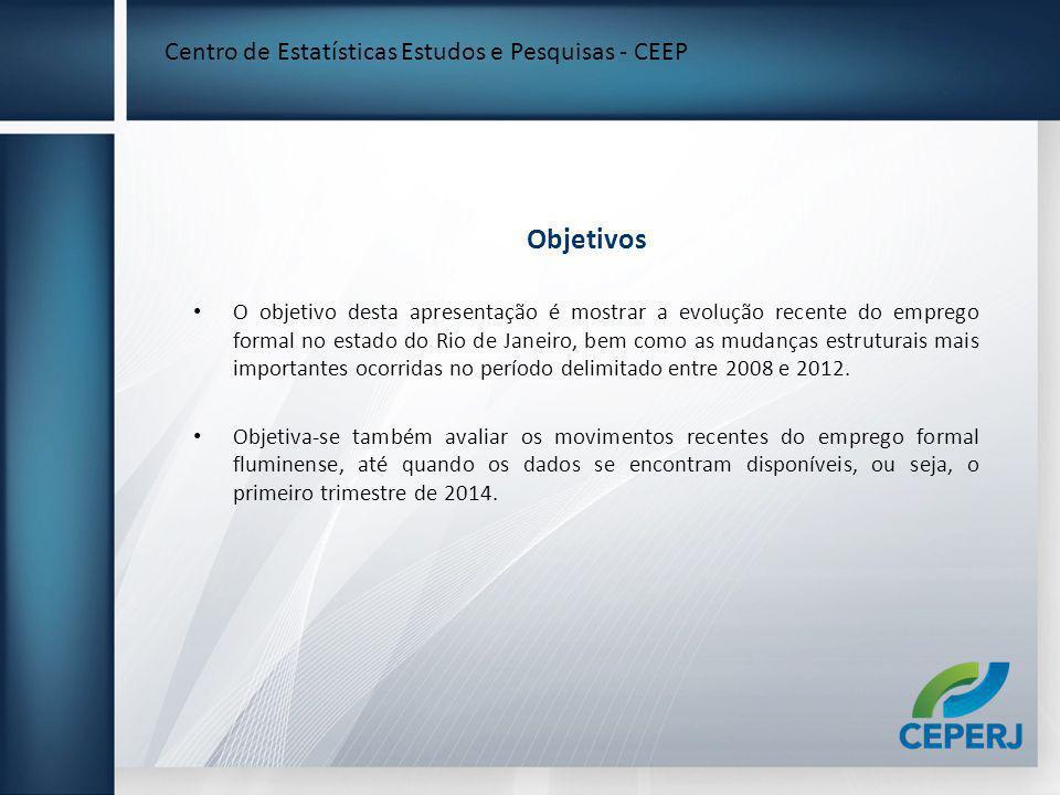 Objetivos Centro de Estatísticas Estudos e Pesquisas - CEEP