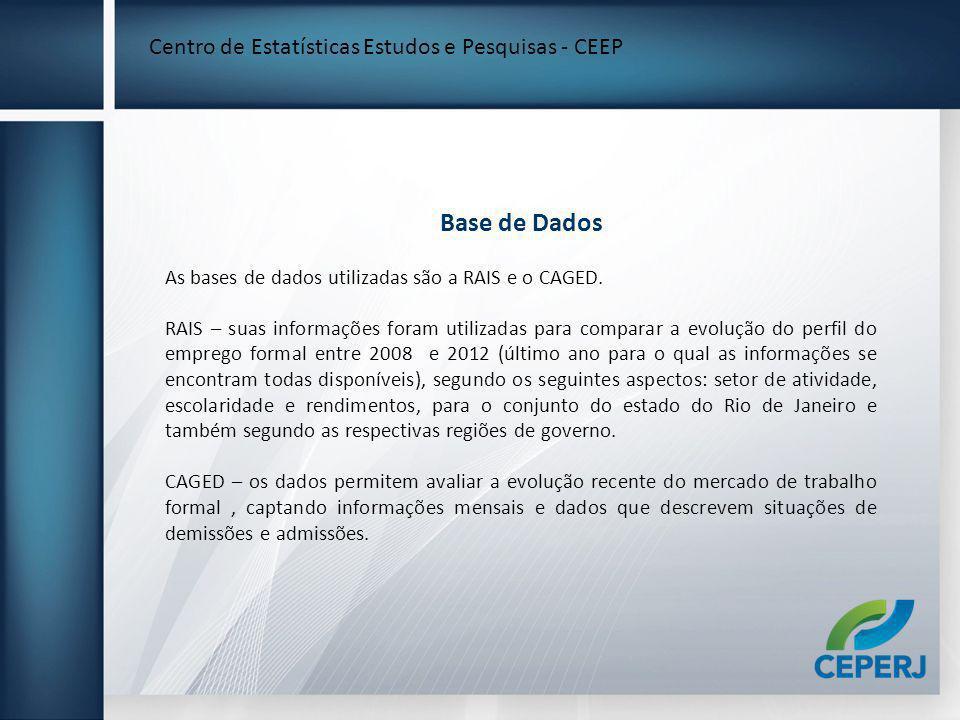 Base de Dados Centro de Estatísticas Estudos e Pesquisas - CEEP