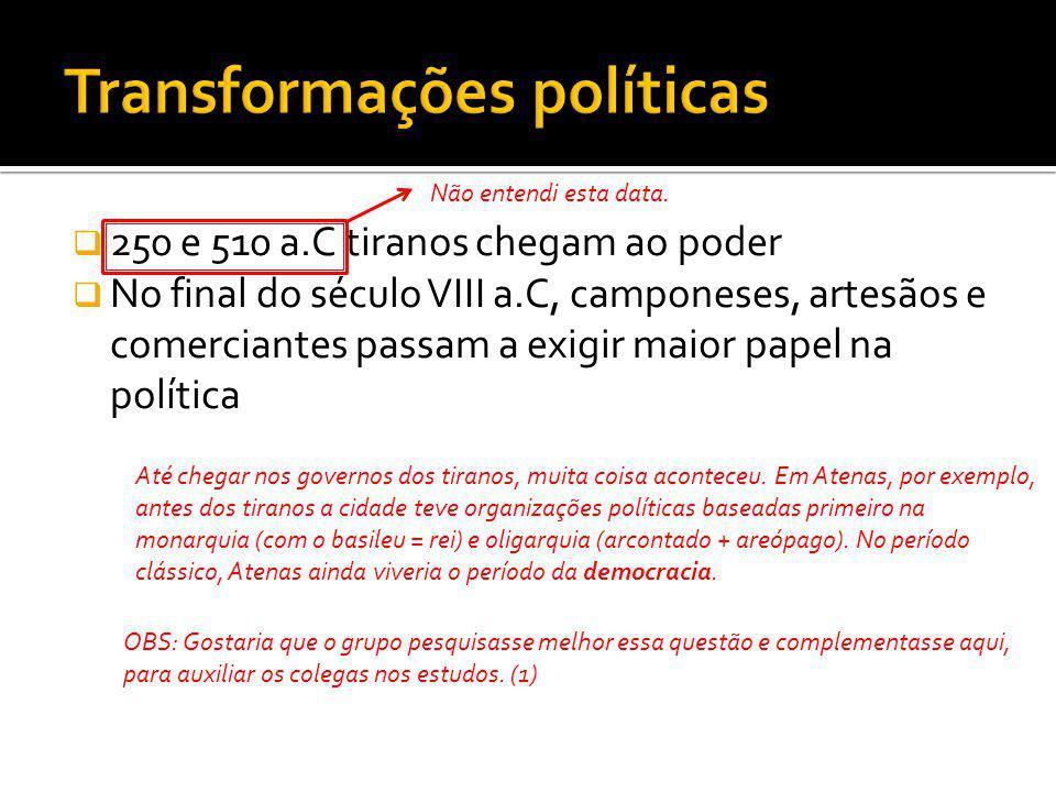 Transformações políticas