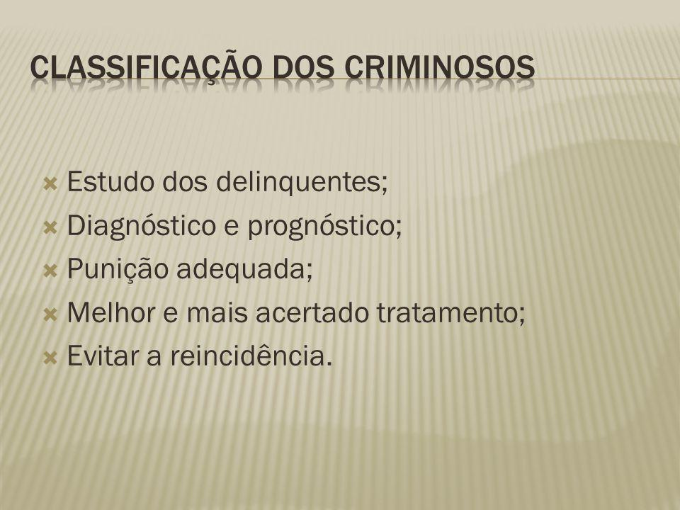 Classificação dos Criminosos